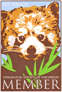 "Static Cling Decal ""Zoological Society of San Diego"" by Serigraphic Sceen Print"