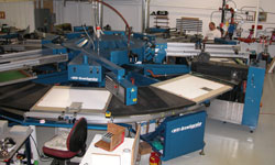 Screen Printing Press at Serigraphics Screen Printing